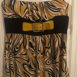 Strapless faux belt silky top XL/XXL